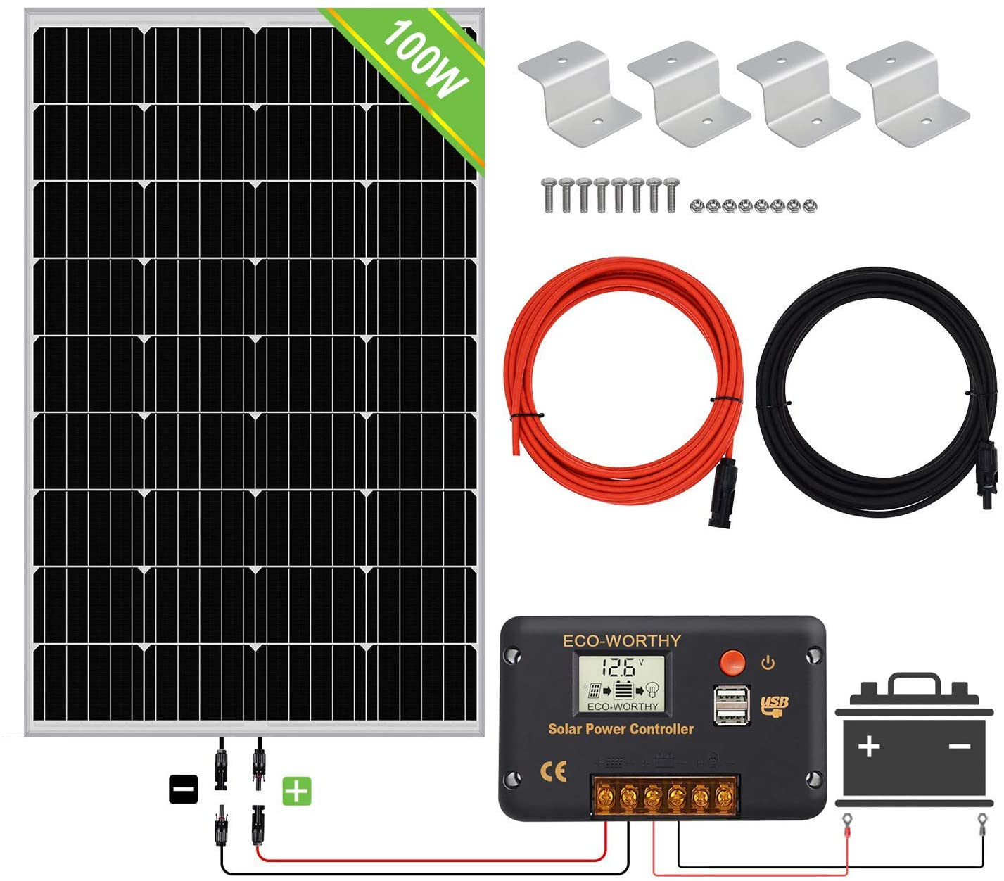 off grid solar power kit with storage battery